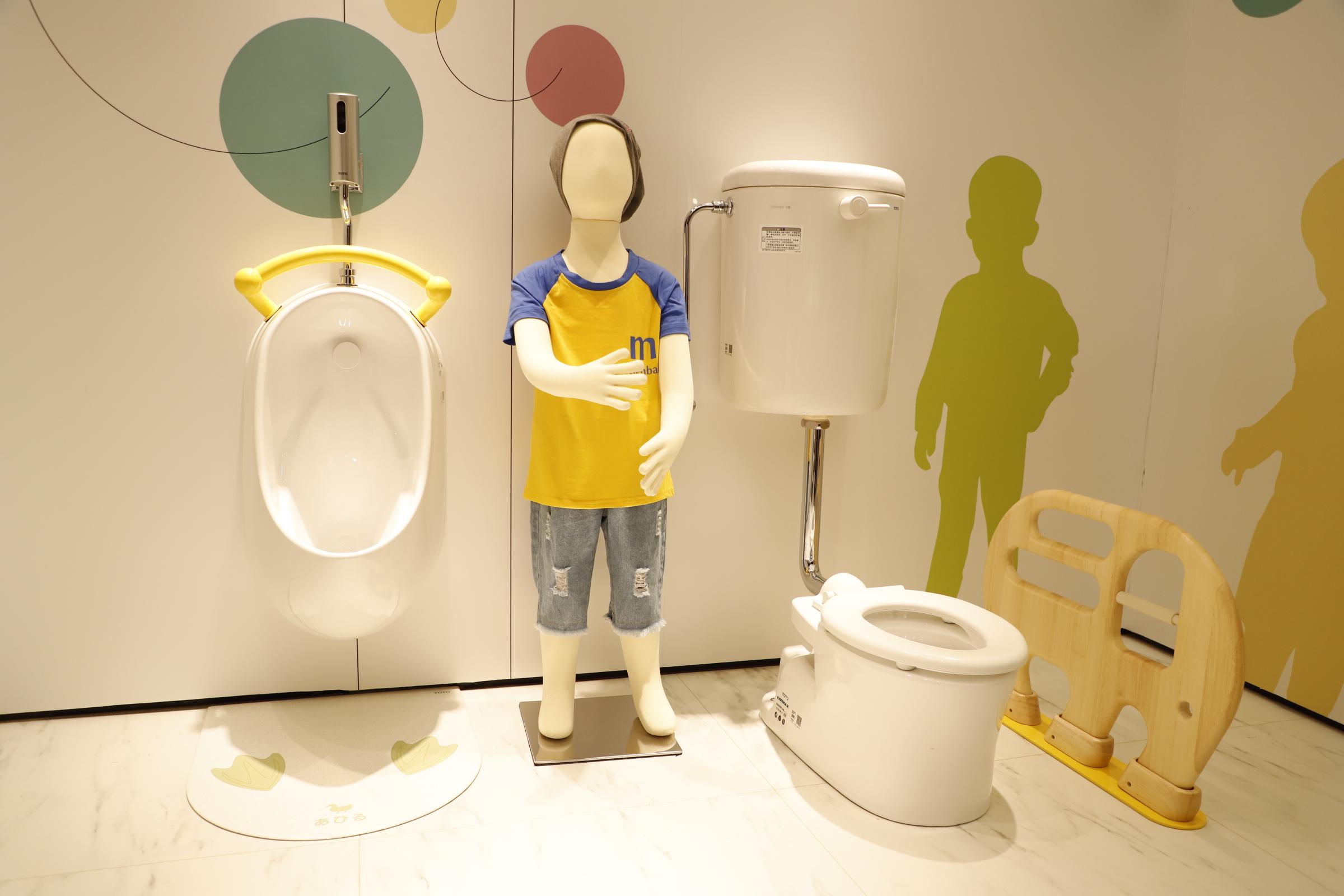 TOTO:儿童卫浴空间,注重各个群体的浴室空间体验,设计加上动物,花朵,动漫等元素,让小朋友速度爱上浴室生活